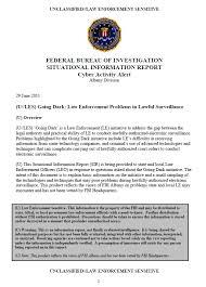 Fbi Intelligence Report Template