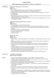 Produce Clerk Resume Samples Velvet Jobs