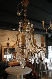antique french light brass and crystal chandelier sold vintage made in spain parts full size