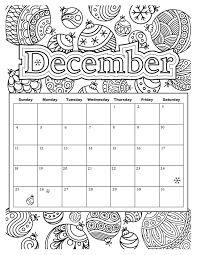 December Holiday Coloring Sheets Coloring Pages