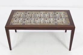 Teak and Ceramic Coffee Table by Severin Hansen for Haslev, 1960s