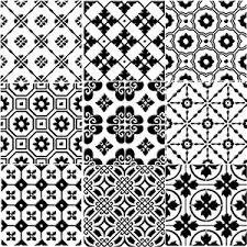 Black And White Pattern Tile Magnificent Bonne Relevé Decorative Porcelain Tile White On Black 448 X 448