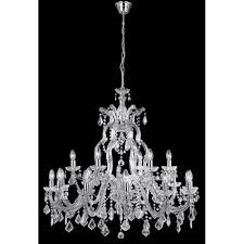 searchlight 3314 18 marie therese 18 light traditional crystal chandelier chrome