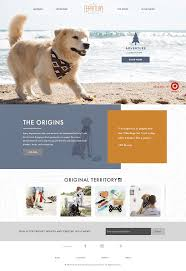 Dog Web Design Website For Dog Accessories With Cute Colours And Layout