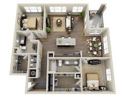 High Quality ... 3 Bedroom Apartments La Mesa Lovely 10 Awesome Two Bedroom Apartment 3d  Floor Plans ...