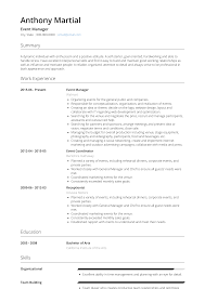 Event Manager Resume Samples Event Manager Resume Samples And Templates Visualcv