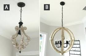 distressed wood chandelier farmhouse chandeliers entryway and living room fixtures white orb shabby chic pick your