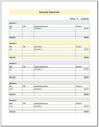 Generic Expense Report | Nfcnbarroom.com