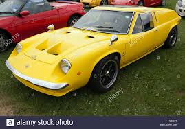 A yellow Lotus Europa 907 S on display in the Lotus Drivers club ...