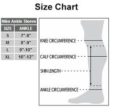 Nike Knee Pads Size Chart Amazon Com Nike Pro Ankle Sleeve 2 0 Sports Outdoors