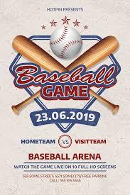 Baseball Flyer Template By Hotpin On Creativemarket
