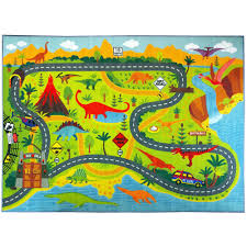 kc cubs multi color kids children bedroom dino safari road map educational learning game 8