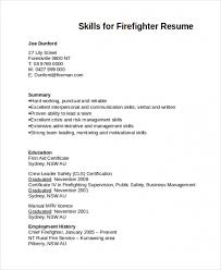 Free Download Sample Resume Sample Firefighter Resume Template Www