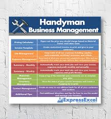 handyman estimating software free handyman or repairman business management excel spreadsheet to
