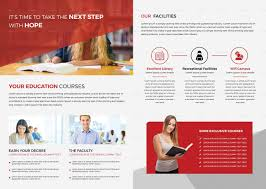 Education Brochure Templates Higher Educational Brochure Template