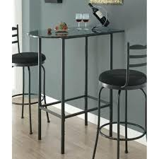 monarch specialties grey marble top bar table in charcoal beyond s round