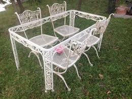 white wrought iron garden furniture. Full Size Of Vintage Round Card Table And Chairs Dining Garden Room Sets Wrought Iron Archived White Furniture