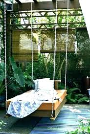 hanging bed swing outdoor daybed swing hanging bed plans porch decor diy hanging porch bed swing