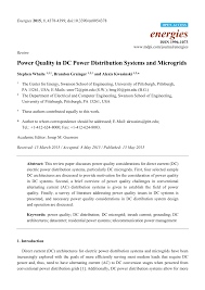 Dc Power System Design For Telecommunications Pdf Pdf Power Quality In Dc Power Distribution Systems And