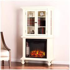 ... Large Image for Southern Enterprises Electric Fireplace Curio Antique  White Traditional Style Retro Mid Century Zurich ...