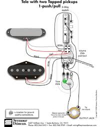 tele wiring diagram 2 tapped pickups 1 push pull telecaster explore guitar pickups guitar parts and more tele wiring diagram 2 tapped pickups 1 push pull