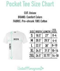 Monogrammed Comfort Colors Pocket T Shirt United Monograms