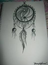 Pictures Of Dream Catchers To Draw Drawn triipy dream catcher Pencil and in color drawn triipy 82