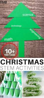 Creative christmas tree toppers ideas try Tree Decorating Christmas Stem Ideas With Christmas Tree Theme Little Bins For Little Hands Christmas Stem Ideas Engineering Christmas Trees