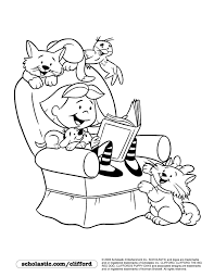 Small Picture Puppy Pals Reading Coloring Page Colouring Pages Or Templates