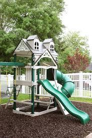 Swing Set Designs Diy Diy Painted Swing Set Backyard Swing Sets Backyard