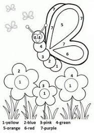 Color By Number Spring Worksheet For Kids Spring Worksheet For