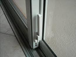 sliding glass door deadbolt lock post