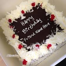 Friend Name Chocolate Birthday Wishes Cake Image Write Name On Image