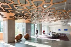 telus garden offices office mcfarlane. A Petal Motif, Abstracted From The TELUS Logo, Creates Leafy Ceiling For An Telus Garden Offices Office Mcfarlane I