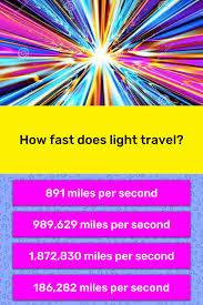 How Many Miles Does Light Travel In A Second How Fast Does Light Travel