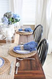 Blue and White Kitchen Table - Starfish Cottage