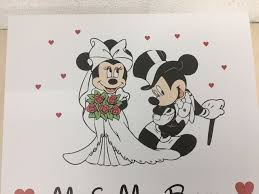 mickey mouse wedding gifts personalised wooden disney wedding box minnie mickey mouse