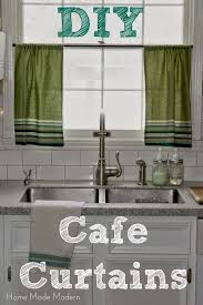 Cafe Curtains from Kitchen Towels - Home Made Modern