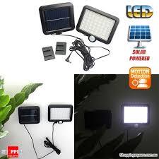 6w solar powered 56 led pir wall motion sensor light lamp for outdoor garden backyard street security