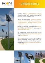Led Green Led Lighting Supplier Led Energy SavingsSolar Street Light Brochure