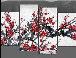 red blossom tree extra large canvas wall art on black grey white 60 inch on wall art black white and red with 268 best things for my wall images on pinterest decorative