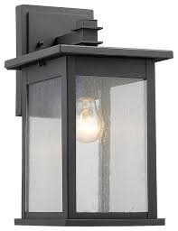 saratoga outdoor wall sconce black