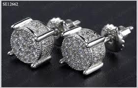round micro pave lab created diamond vvs mens hip hop jewelry