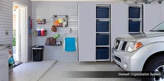 slatwall organizers with vertical garage cabinets