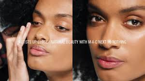 natural beauty makeup tutorial m a c next to nothing i m a c artists up close