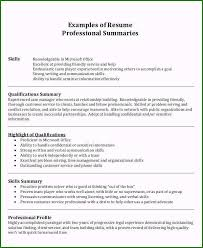 Professional Summary For Resume No Work Experience Professional Summary Resume 47 Creative Concepts You Have