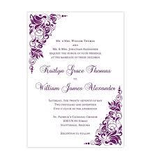 Gianna Wedding Invitation Purple