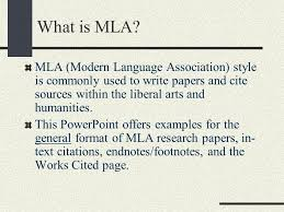 cited sources mla the mla bibliography format ppt download