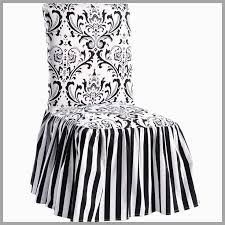 black dining chair slipcovers great black white damask and stripe dining chair cover set of 2