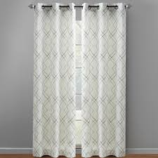 Geometric Patterned Curtains 84 West Village Grommet Top Window Curtains Set Of 2 Christmas